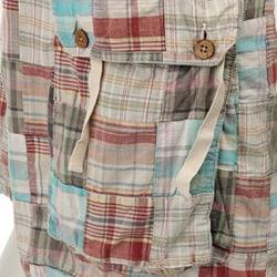 FINAL SALE Tailor Vintage Men's Patchwork Madras Cargo Shorts