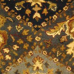 Safavieh Handmade Tabriz Blue Wool Rug (3' x 5') - Thumbnail 2