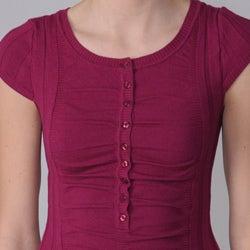 Ci Sono by Adi Junior's Ruched Fine-gauge Rib Sweater