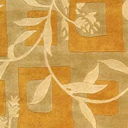Safavieh Handmade Rodeo Drive Transitional Gold/ Ivory Wool Rug (9'6 x 13'6) - Thumbnail 2