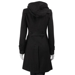 J Lo Women's 3/4-length Hooded Wool Coat - Free Shipping Today ...