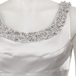 Thumbnail 3, Women's Silver Beaded Neck Dress. Changes active main hero.