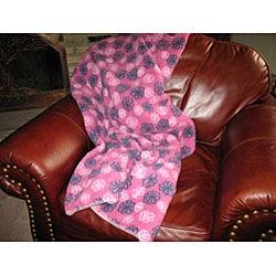 Flower Power Fleece Throw Blanket - Thumbnail 2