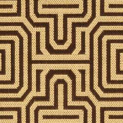 Safavieh Matrix Chocolate/ Natural Indoor/ Outdoor Rug (7'10 x 11') - Thumbnail 2