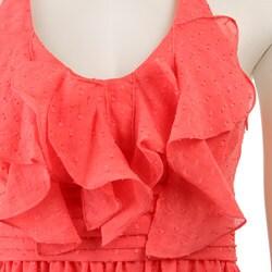 Max & Cleo Women's Ruffle Halter Dress - Thumbnail 2