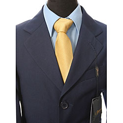 Ferrecci Boy's Navy Blue Three-button Suit