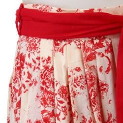 FINAL SALE Eva Franco Women's 'Avril' Floral Skirt - Thumbnail 2