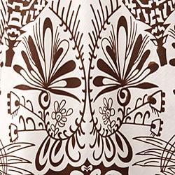 Studio West White/ Brown Allover Print Circle Skirt - Thumbnail 2