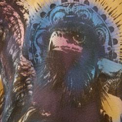 FINAL SALE Purple Rain Men's 'Eagle of Gods' V-neck Shirt - Thumbnail 2
