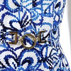 FINAL SALE Anne Klein Women's Grecian Floral Sheath Dress - Thumbnail 2
