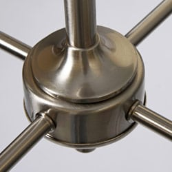 Chrome-plated Wood Accent 4-shade Chandelier - Thumbnail 2