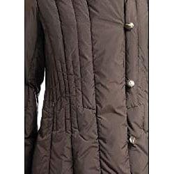 Larry Levine Women's Hooded Down Jacket - Thumbnail 2