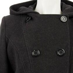 AK Anne Klein Women's Plus Size Short Wool Coat - Thumbnail 2