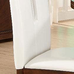 Lancaster Open Back White Upholstered Dining Chair (Set of 2)