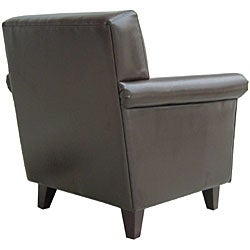 Bonded Leather Club Chair - Thumbnail 2