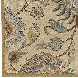 Hand-tufted Coliseum Wool Rug (6' Square) - Thumbnail 2