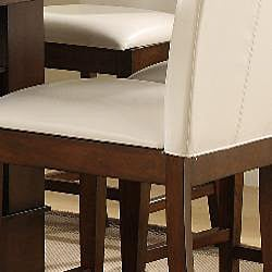 Lancaster White Faux Leather Counter Height Stool (Set of 2) - Thumbnail 2