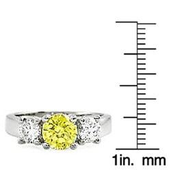 14k Gold 1 3/4ct TDW Yellow/ White Diamond Ring (G-H, SI) (Size 6.5)