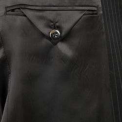 Kenneth Cole Slim Collection Men's Black Pinstripe Suit - Thumbnail 2