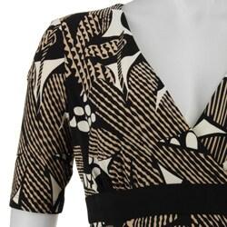 Jones New York Matte Women's Floral Collage Jersey Dress - Thumbnail 2