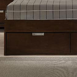 Noho Warm Cherry Queen-size Platform Wall Bed Bedroom Set - Thumbnail 2