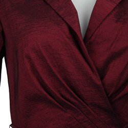 Thumbnail 3, Jessica Howard Women's Cuff-sleeve Notch Collar Belted Shirtdress. Changes active main hero.