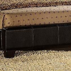 Tuscany Villa Dark Brown Upholstered King-size Bed