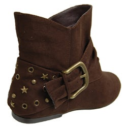 Journee Collection Women's Side Buckle Embellished Ankle Boots