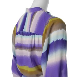 Ninety Women's 3/4-sleeve Y-neck Lavender Blouse - Thumbnail 2