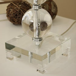 Crystal Circle Table Lamp