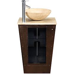 Silkroad Exclusive Auburn Bathroom Vessel Vanity Sink - Thumbnail 2