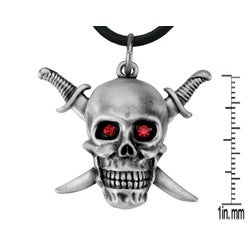 Pewter Sword and Skull Necklace - Thumbnail 1