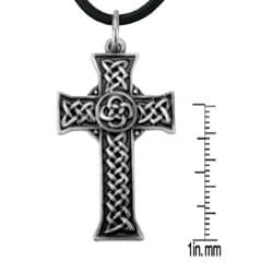 Pewter Celtic Cross Infinity Knot Necklace - Thumbnail 1