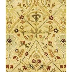 Safavieh Handmade Mahal Ivory/ Rust New Zealand Wool Rug (7'6 x 9'6 Oval)