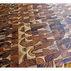 Handmade Plantation Grown Teak Kitchen Cart (24 in. x 24 in.)