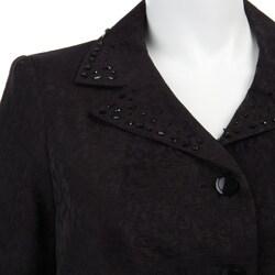 Isabella Women's Plus Size Jacquard Skirt Suit - Thumbnail 2