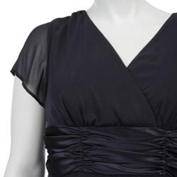 Connected Apparel Women's Plus Size Chiffon Dress - Thumbnail 2