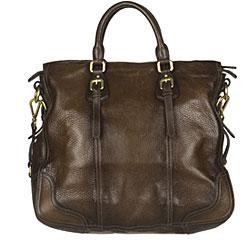 Prada 'Cervo Antik' Brown Leather Tote Bag