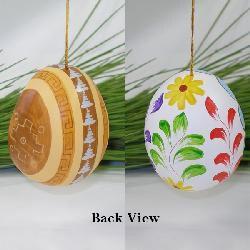 Ceramic Blue Nativity Egg Ornament (Peru) - Thumbnail 2