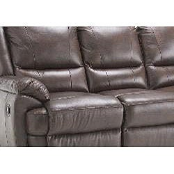 Marco Brown Reclining Leather Sofa and Leather Loveseat - Thumbnail 2