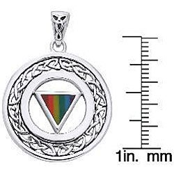 Carolina Glamour Collection Sterling Silver Pride Celtic Border Necklace