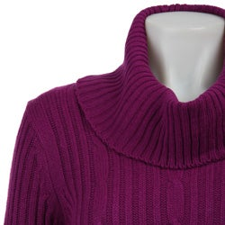 Western Connection Women's Long-sleeve Cable Knit Sweater - Thumbnail 2