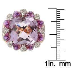 Encore by Le Vian 14k Gold Pink Amethyst and 1/2ct TDW Diamond Ring (H-I, SI1-SI2)