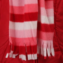 Amy Byer Girls' Red Coat and Scarf Set