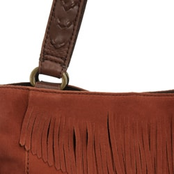 Lucky Brand '1968' Suede Fringed Tote - Thumbnail 2
