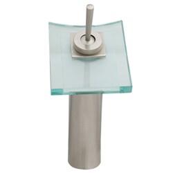 Geyser Brushed Nickel Bathroom Vessel Faucet with Pop-up Drain