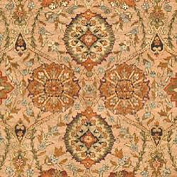 Heirloom Hand-knotted Kashan Camel Wool Rug (6' x 9') - Thumbnail 2