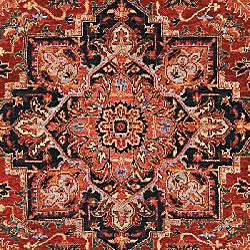 Heirloom Treasures Hand-knotted Red Wool Rug (8' x 10')