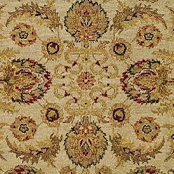 Heirloom Treasures Hand-knotted Ivory Wool Rug (6' x 9') - Thumbnail 2