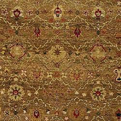 Heirloom Treasures Hand-knotted Beige Wool Rug (9' x 12') - Thumbnail 2